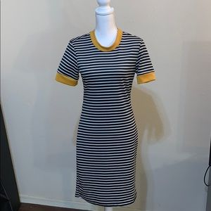 Poof! black and white Striped dress